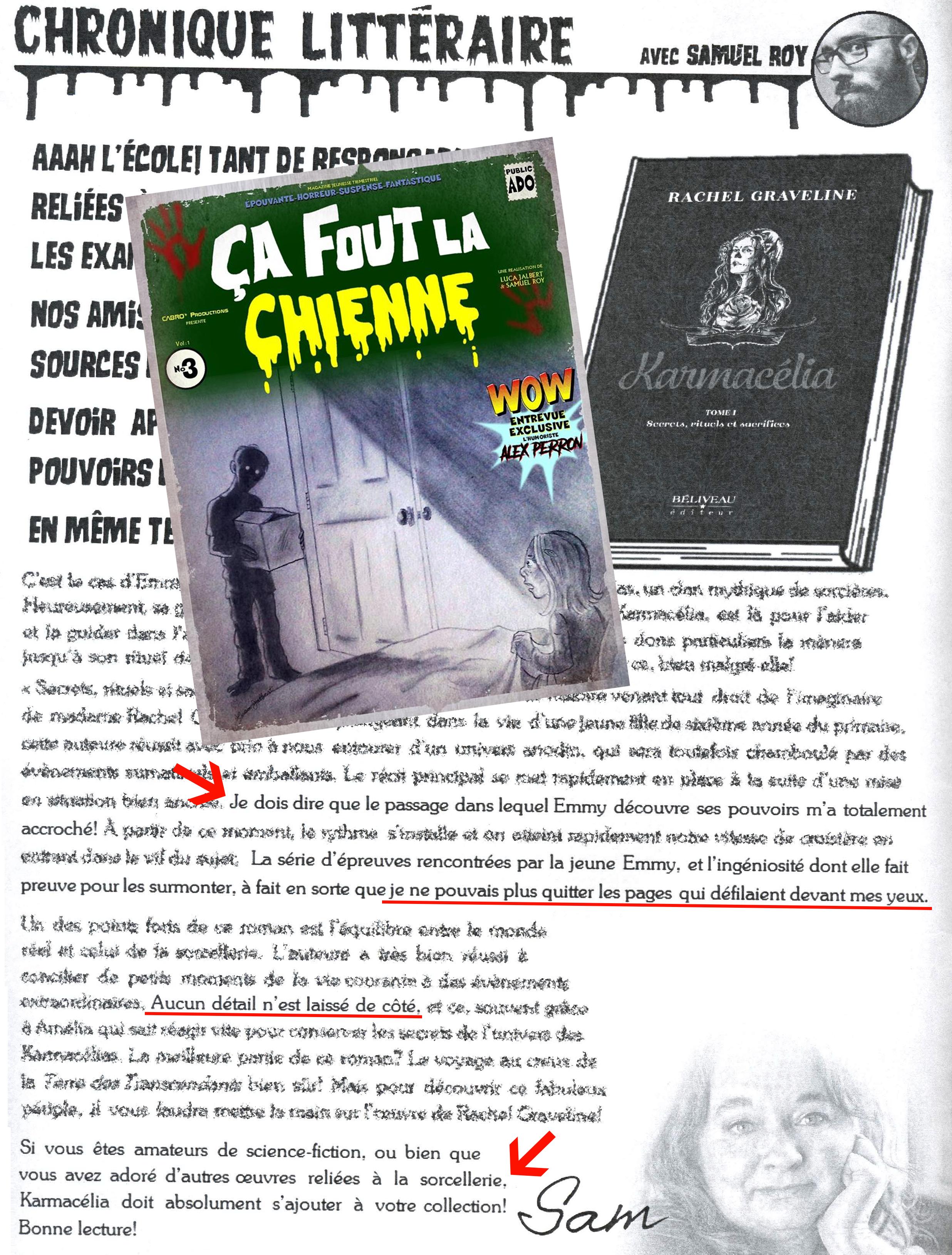 Karmacelia Dans Le Magazine Ca Fout La Chienne No 3